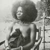 A woman of the Susu tribe (Eastern Sierra Leone), Mandingo stock, showing natural growth of head hair.