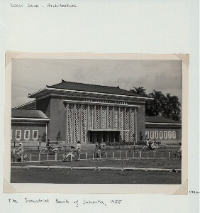 West Java - Architecture. The Industrial Bank of Jakarta, 1955.
