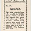 Windbag. Trainer G. Price.