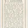 W.C. Alexander (S. Australia & Australia).