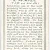 A. Jackson (N.S.W. & Australia).
