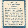 E.H. Bromley.