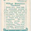 William Makepeace Thackeray.