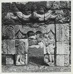 Ngawen, candi. Chandi Ngawen, Muntilan, Magelang. Reconstruction of a niche with kala head. Photo: Lembaga Purbakala, D.P. #7414 (ordered by A. Atwell)