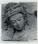 Plaosan, candi. Tjandi Plaosan (?), head of Bodhisattva, Museum Djakarta (?)