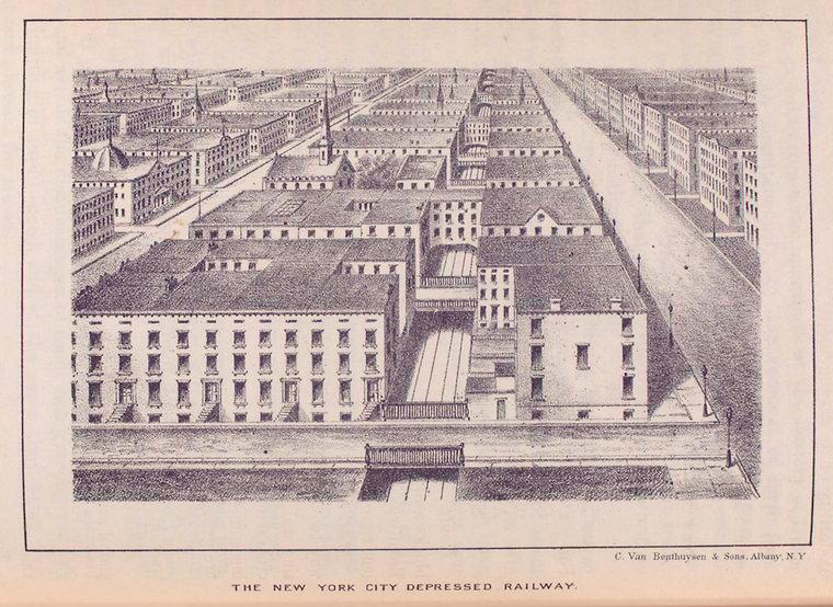 The New York City depressed railway.
