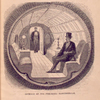 Interior of the pneumatic passenger-car.