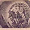 The underground tunneling machine - driving the machine ahead.