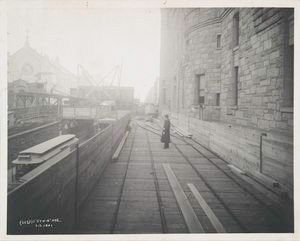 Album of photographs depicting the construction of the Broadway line, New York City Subway.]