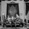 """Scene from """"Right you are if you think you are"""" with Henry Travers as Sirelli, Reginald Mason as Lamberto Laudisi, et al."""