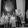 L to R: Dorothy Fletcher (Signora Nenni), Helen Westley (Signora Cini) and Reginald Mason (Lamberto Laudisi).
