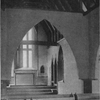 Interior of Weston Chapel.  The ceiling and pews are of cypress.  Arches add to the dignity.