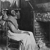 Aunt Betty.  She was the slave of Mr. Walker, at Faunsdale, and was the cook for Rev. Mr. Harrison, Rector of St. Michael's.  The picture, taken in Aunt Betty's home, shows a typical cabin interior.