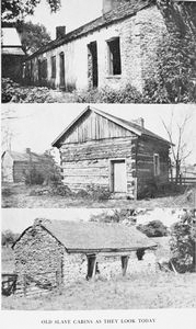 Old slaves cabins as they look today.