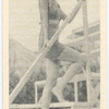 Gertrude Michael, Paramount actress, shown here at the swimming pool during vacation.