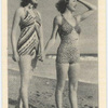 Eleanor Hansen and Frances Robinson, Both Universal Picture Starsenjoying a stroll along the sands before taking their bathe.