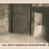 The Birth Room of Shakespeare.