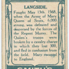 Battle of Langside [May 13th, 1568]. (Court Knowle from which the Queen watched the battle; Mary Queen of Scots; Queen Mary's stone.)