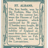 Battle of St. Albans [May 23rd, 1455]. (Archer from the old chronicle; Duke of Somerset; Market Place where they fought.)