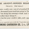 The absent-minded beggar. Chorus. (1st verse.)