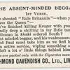 The absent-minded beggar. 1st verse.
