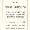 Elmina Humphreys.