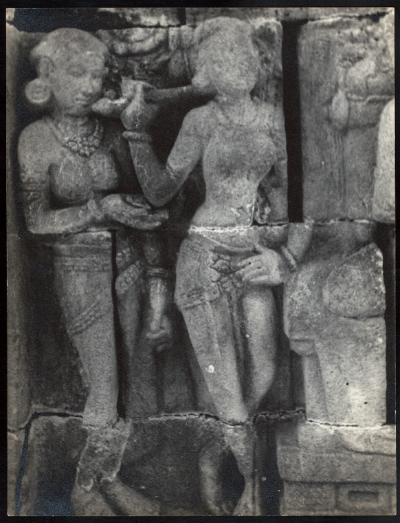 Prambanan - General. Prambanan (?), celestial singers on outer wall of balustrade of Shiva temple. Photo: D.P.--no onlist.