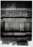 Sambisari, candi. Tjandi Sambisari, Central Java. Tree of life motif on west wall. Photo: G. McT. Kahin, 1967.