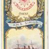 H.M.S. Sirius. 2nd Class Cuiser (1890).
