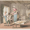 Woman making oat cakes, Plate 9