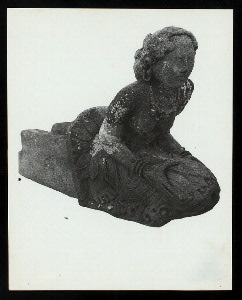 Java, East: Antiquities. Belahan, candi. Female spout figure from Modjokerto, Mus. Djakarta, #44. Belahan? (See Art. Th. Resink T.B.G.) Photo: Lembaga Purbakala D.P. #1215 (ordered by A. Atwell).
