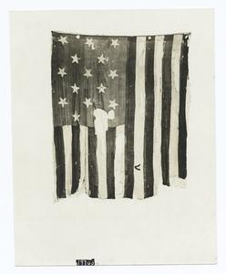 "Fort McHenry garrison flag, the original ""Star Spangled Banner"" which prompted the national hymn by Francis Scott Key on the occasion of the British fleet's bombardment, Sept. 14, 1814"