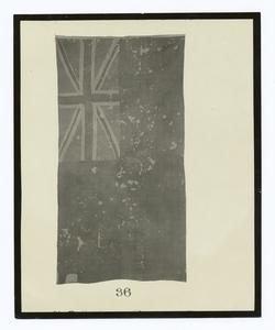 Ensign of the British brig Boxer, Captain Samuel Blythe, captured by U.S. brig Enterprise, Lieut. Wm. Burrows, Sept. 5, 1813.