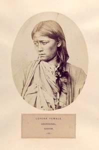 Lepcha female, aboriginal, Sik... Digital ID: 1125283. New York Public Library