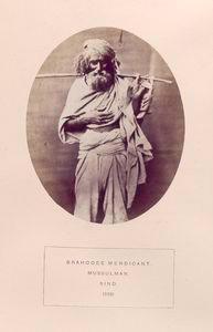 Brahooee mendicant, Mussulman, Sind.