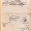 View of the islands of Ischia and Procida; map of the volcanic district of Naples.]
