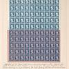 1c blue Franklin carrier proof pane of fifty