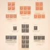 50c orange Jefferson block of four