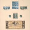 $2 bright blue Madison block of nine