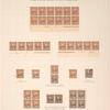 5c chocolate Grant imprint plate block of twelve