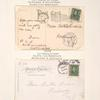 1c blue green Franklin coil single on post card