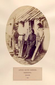 Lepcha water carriers, aborigi... Digital ID: 1128410. New York Public Library