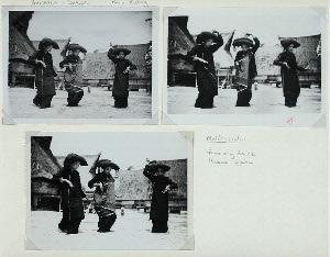 Sumatra - Dance. Karo Batak. Mulih-mulih, funerary dance, Kabau Djahe.