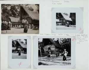Sumatra - Dance. Toba Batak. Huta Sihotang, Balige. Dance of Datu with tunngal panaluan (magic staff). 1938.