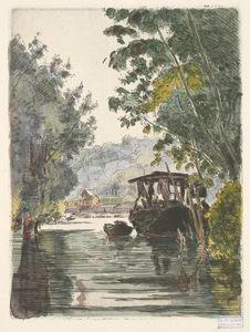 [Le bateau du teinturier (Bas-Meudon).]