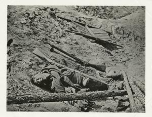 Dead soldier in trench, Petersburg.