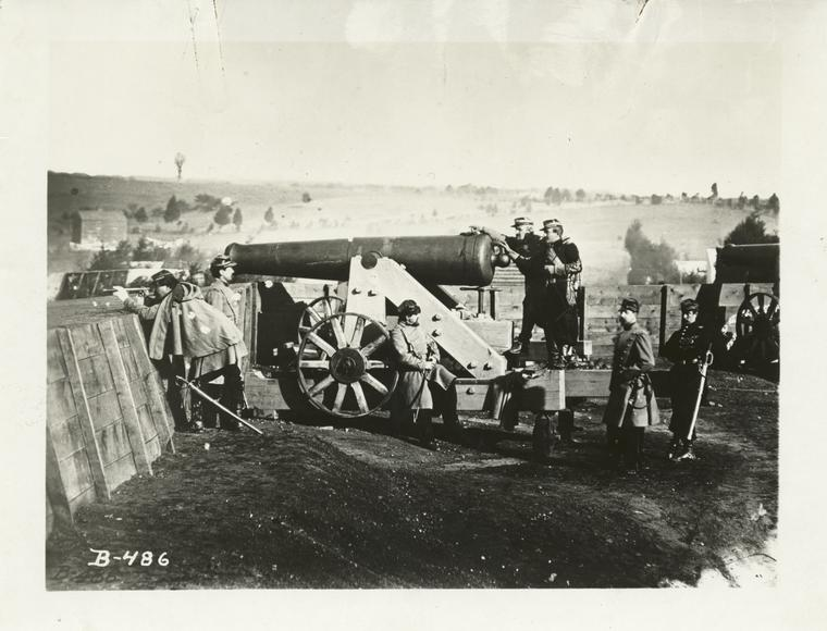 [Cannon and officers.]