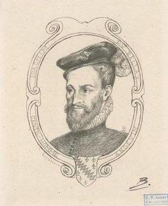 Joachim Du Bellay, gentilhomme angevin [portrait frontispice].