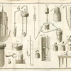 [Illustration of various parts of equipment used in chemical processing.]