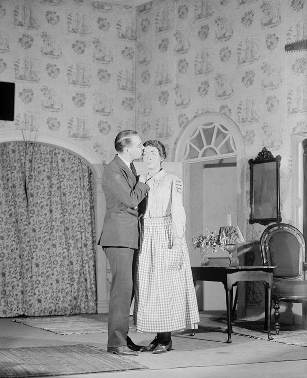 Earle Larimore as George Callahan and Clare Eames as Carrie Callahan.